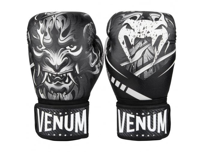 boxing gloves venum devil black white f1