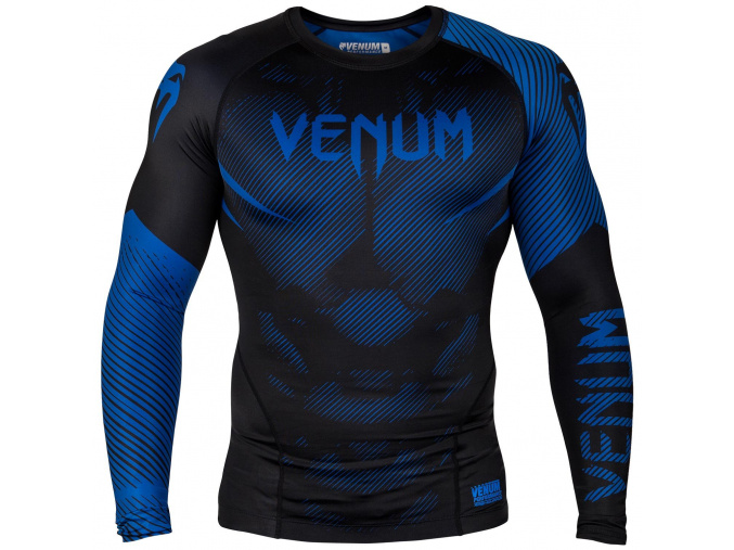 rashguard venum long sleeve nogi black blue f1