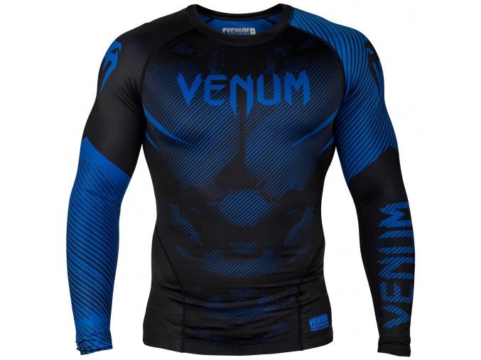 rashguard venum long sleeve nogi black blue f1