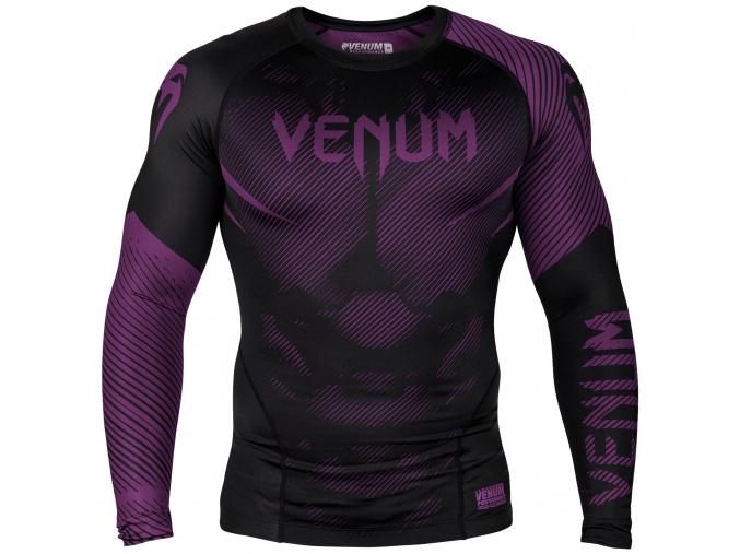 rashguard long sleeves venum nogi black purple f1