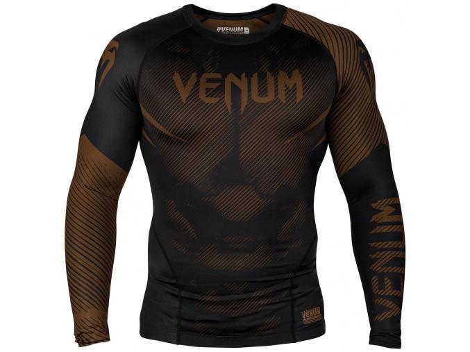 rashguard venum long sleeves nogi black brown f1