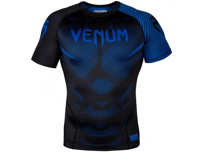 rashguard venum short sleeves nogi black blue f1