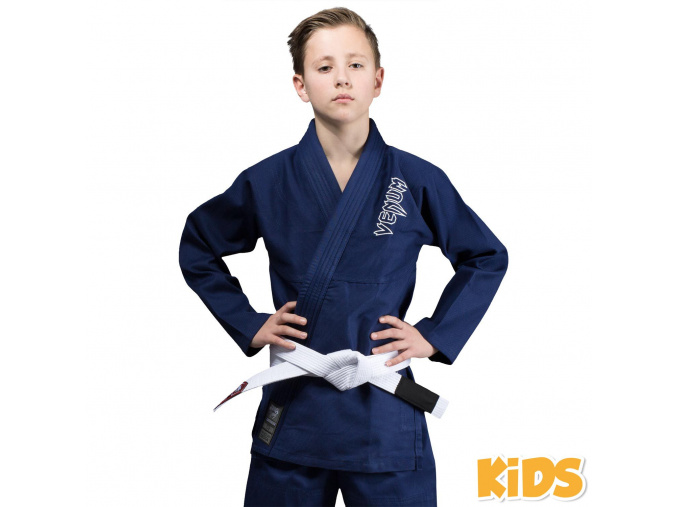 bjj gi kimono kids venum contender navy blue f1