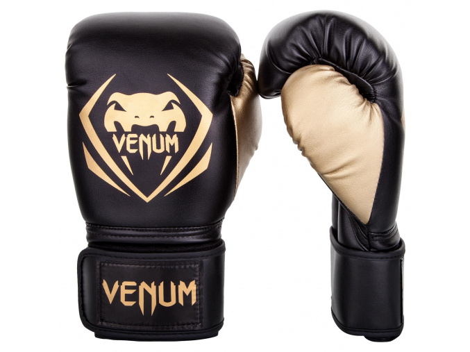 venum boxing gloves contender black gold f1