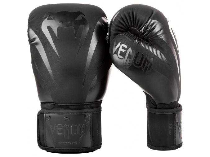 boxing gloves venum impact black black f2