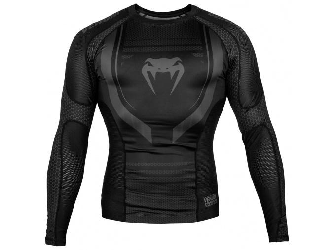 rashguard venum long sleeves technical black f1