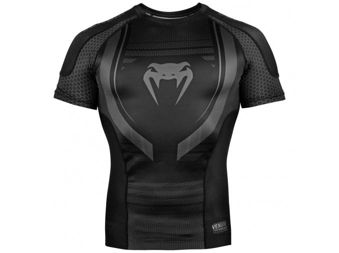 rashguard venum short sleeves black f1