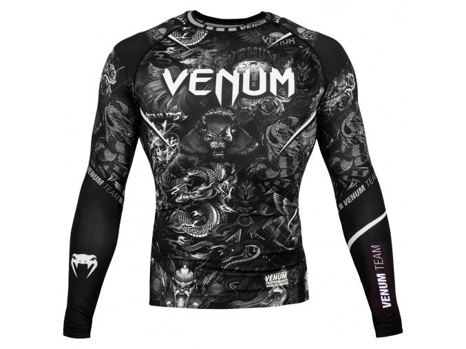 rashguard venum art long sleeves black f1