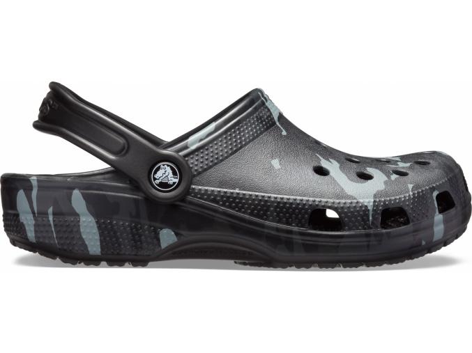 Crocs Classic Seasonal Graphic Clog - Black/Grey