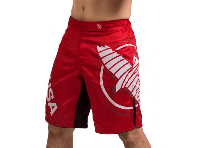 mma shorts hayabusa chikara 4 red f1