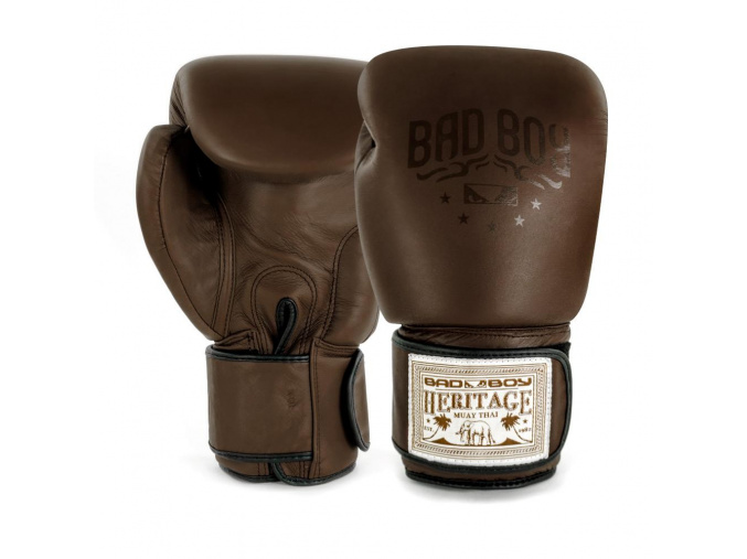 BadBoy Heritage Boxing Gloves Brown boxerske rukavice f1