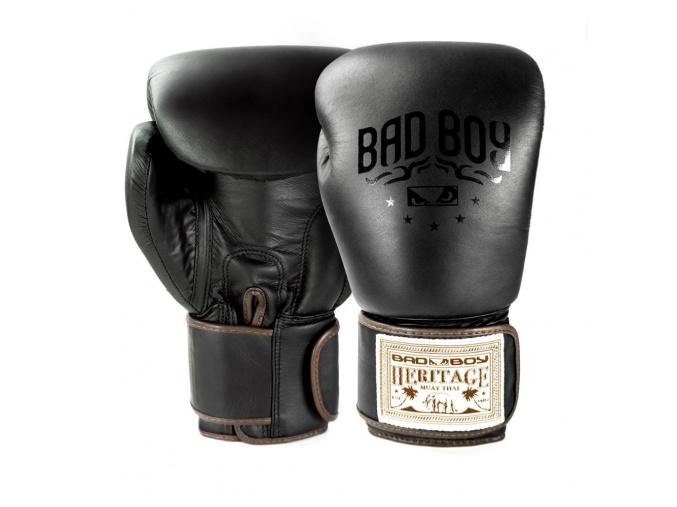 BadBoy Heritage Boxing Gloves Black boxerske rukavice f1