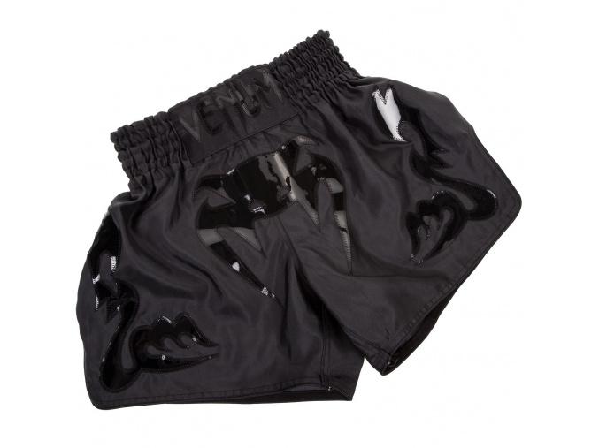 venum shorts muay thai bangkok inferno matte black f1