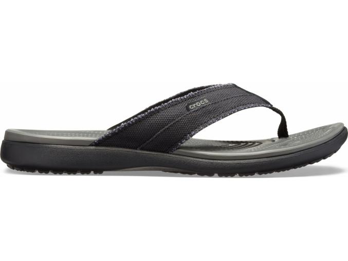 Crocs Santa Cruz Canvas Flip M Black/Slate Grey