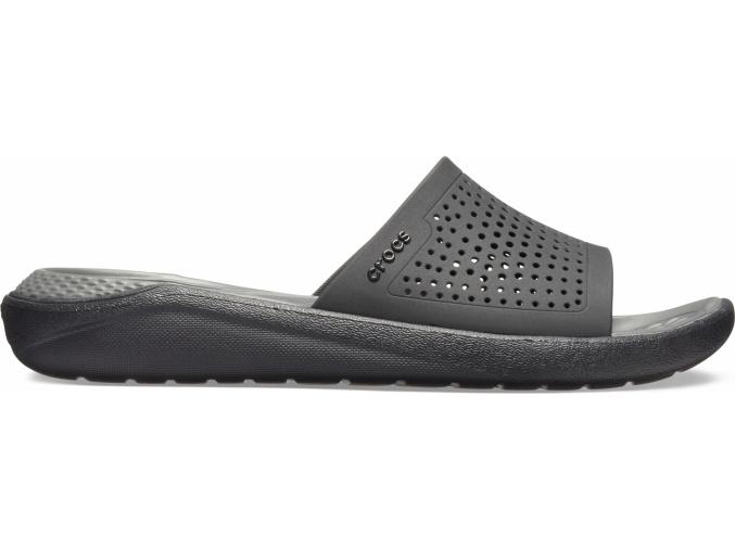 Crocs LiteRide Slide Black/Slate Grey