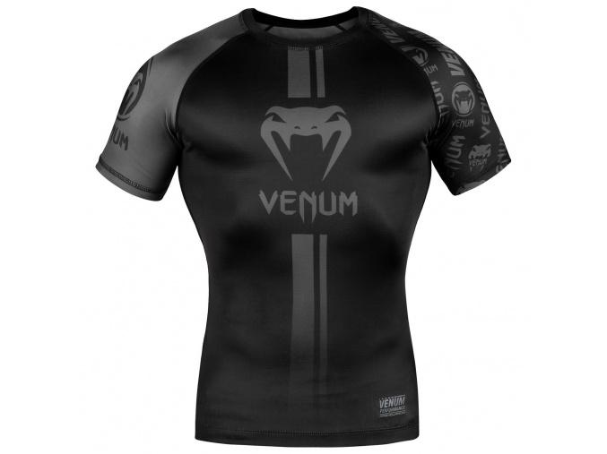 rashguard short sleeves venum logos black black f1