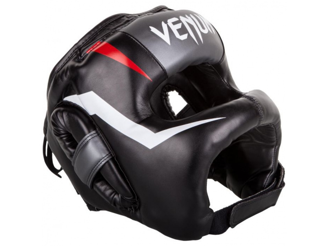 venum 03053 001 headgear iron elite black helma prilba boxing f1