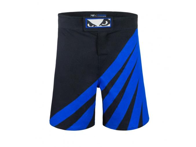 bad boy training series impact mma shorts black blue sortky f2