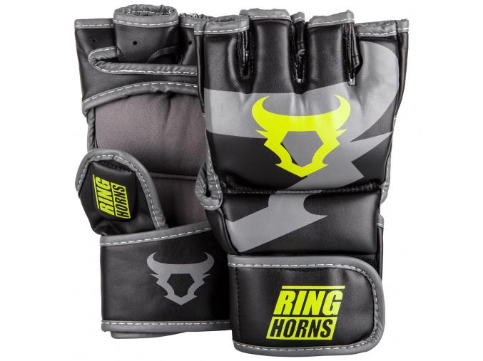 rh 00007 116 mma gloves charger black neoyellow rukavice f1