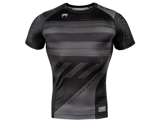 venum 03693 109 rashguard short sleeves amrap black grey f1