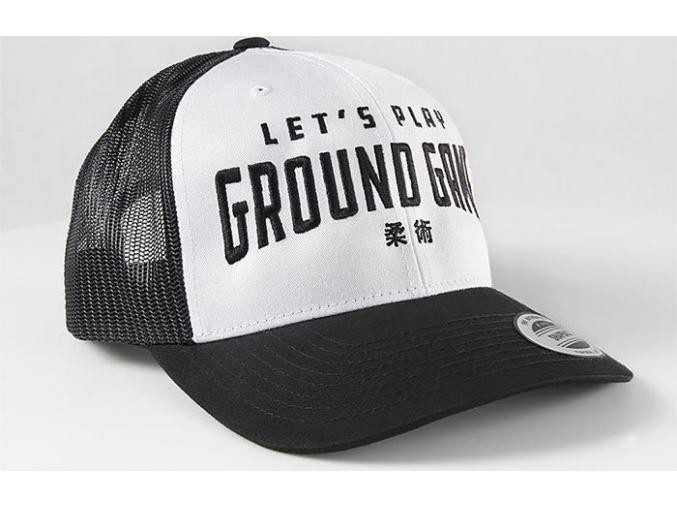 Kšiltovka Ground Game KANJI WHITE TRUCKER