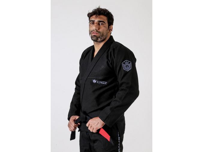 bjj brazilian jiu jitsu gi kimono kingz balistico3 black cerne f3