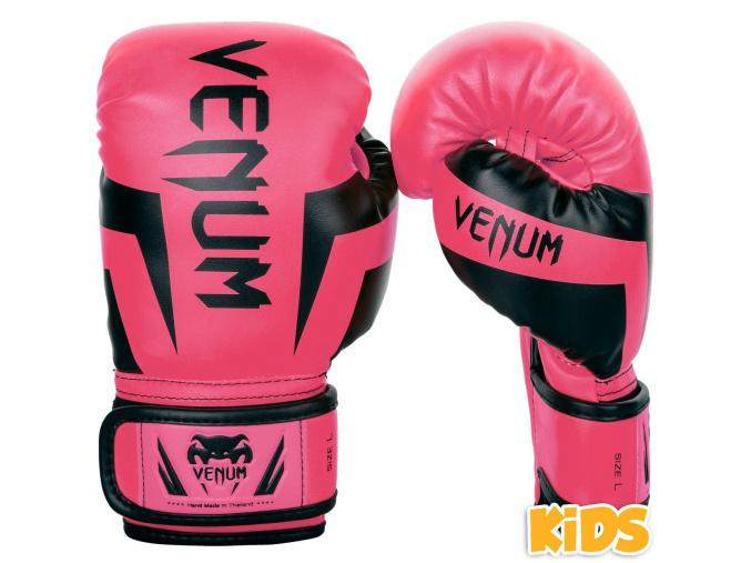 DĚTSKÉ boxerské rukavice Venum Elite Kids - Black/Pink