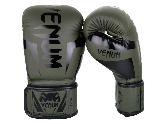venum 1392 200 boxing gloves boxerske rukavice elite khaki black f1