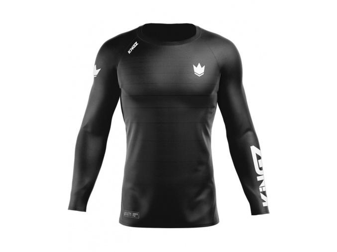 rashguard kingz ranked v5 long sleeves dlouhy rukav black f1