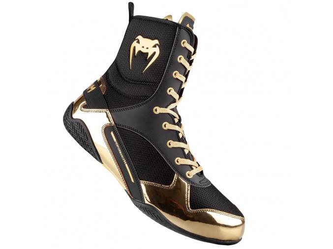 venum 03681 126 boxing shoes boty boxery elite black gold f1