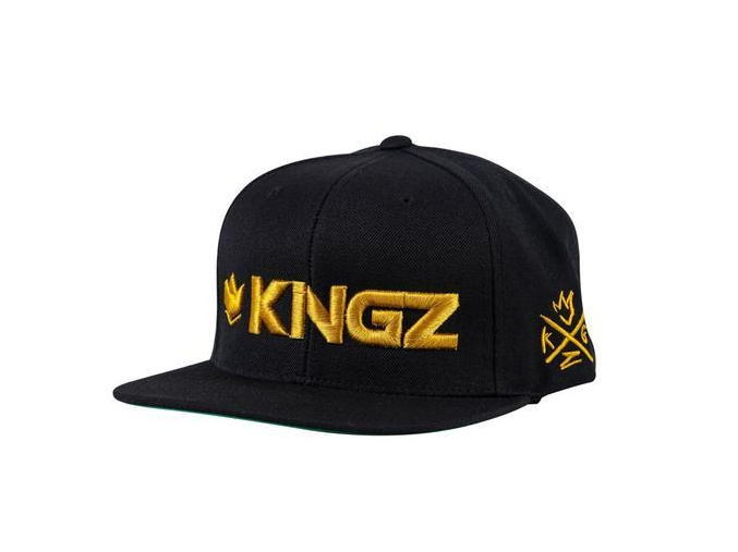 snapback ksiltovka kingz logo black gold