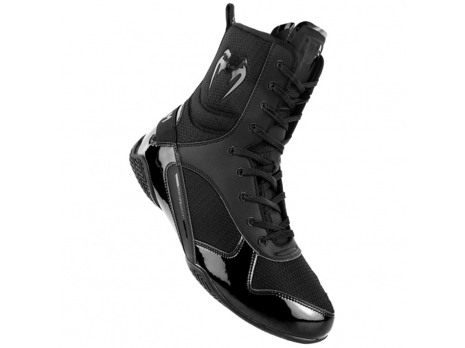 venum 03681 114 boxing shoes elite black black boxerske boty obuv f1