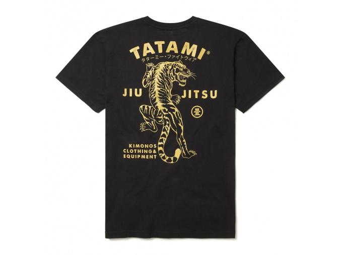 tshirt tatami tiger bjj black cerne tricko triko f2