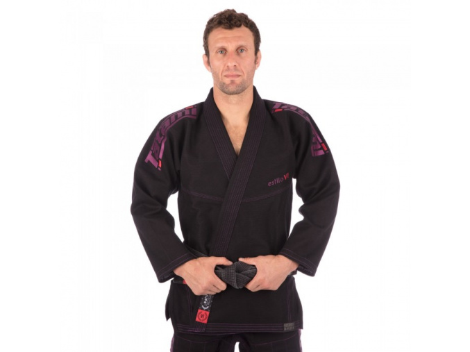 tatami gi bjj estilo6 black purple f1