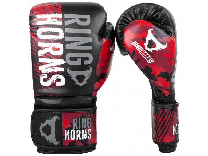 box gloves ringhorns charger camo black red 1