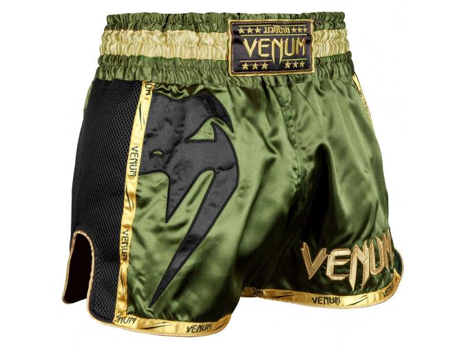 muay thai shorts venum giant khaki black 1