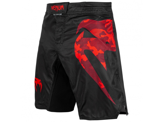 mma shorts venum light 3.0 black red 1