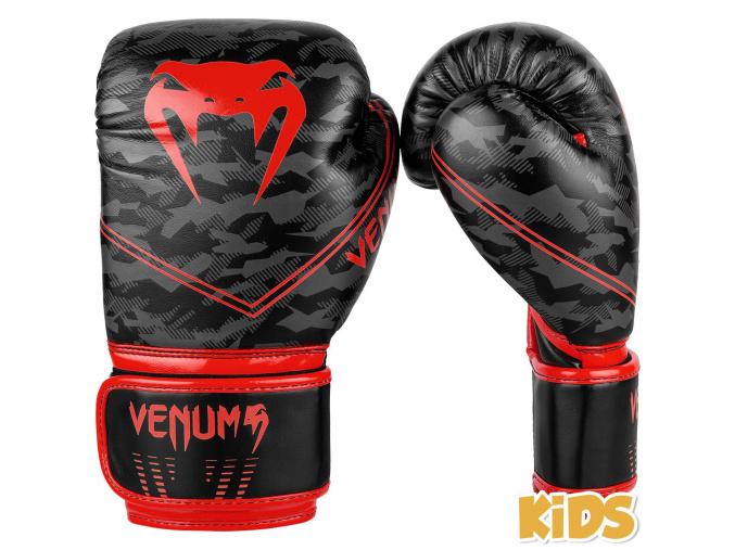 boxerky venum kids okinawa 2.0 black red 1