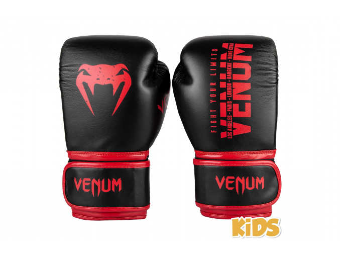 boxerky venum kids signature black red 1