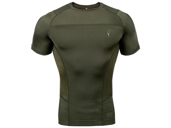 rashguard short venum g fit khaki 1