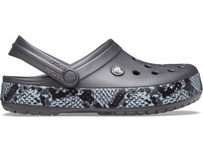 Crocs Crocband Snake Print Clog Graphite/Black
