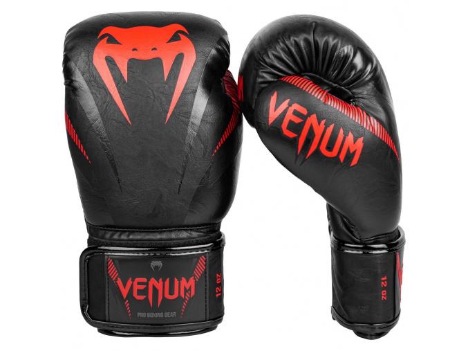 boxerky venum impact black red 2