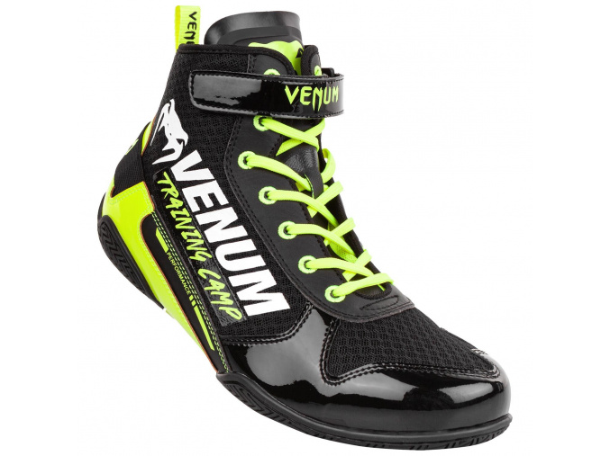 boxing shoes venum giant vtc2 black neoyellow 1