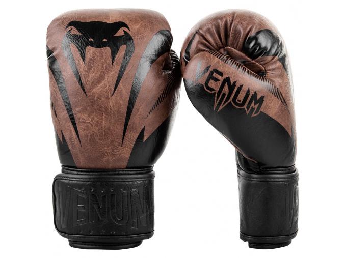 boxerske rukavice venum 03284 124 impact classic black brown f1