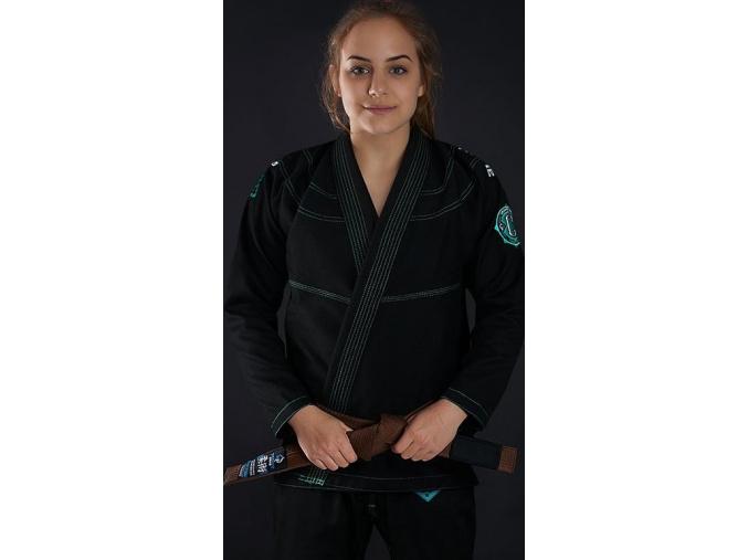 Dámské kimono GI BJJ  Ground Game Champion 2.0 Mint - Černé