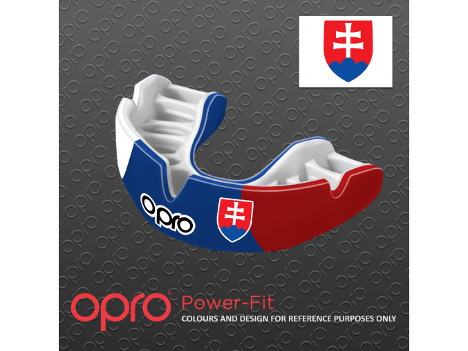 Chránič zubů Opro Power Fit SK - trikolóra/slovenské barvy/státní znak