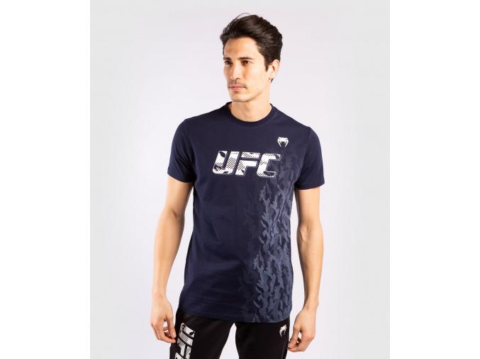 tshirt tricko short sleeve kratky rukav ufc venum authentic fight week navy blue modra f1