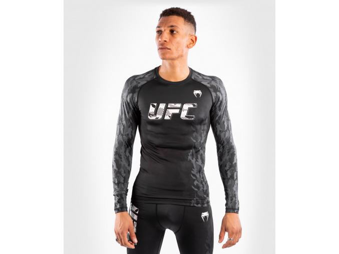 Rashguard UFC Venum Authentic Fight Week Performance dlouhý rukáv - BLACK (Velikost L)