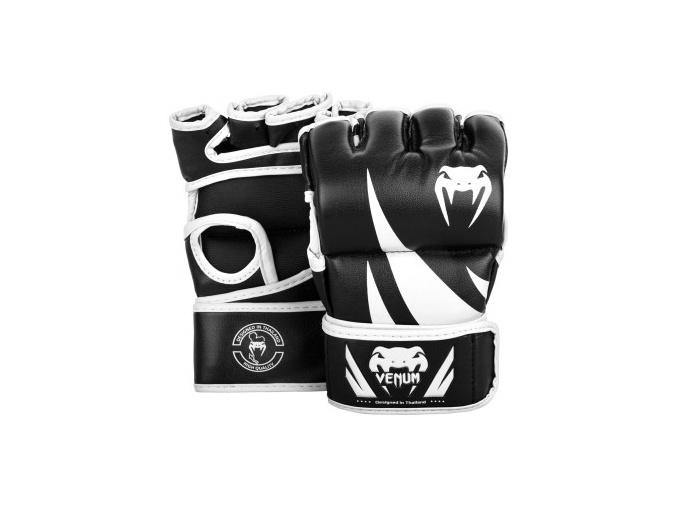 mma gloves challenger thumb black white 1500 01