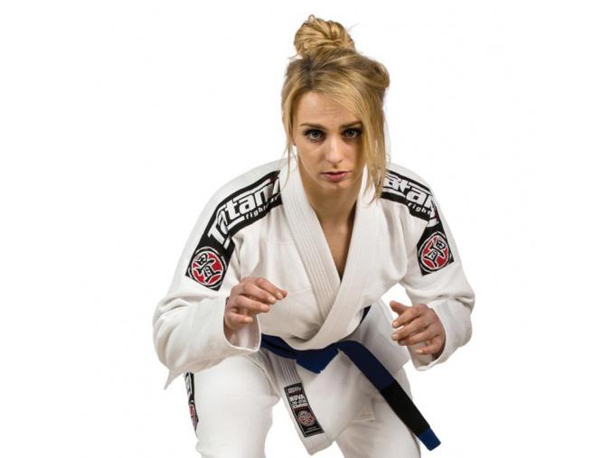 Ladies Nova 2015 BÍLÉ Tatami fightwear BJJ kimono Gi + bílý pás zdarma